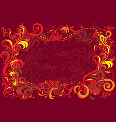 background with traditional russian decor vector image vector image