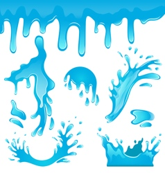Blue Water Drops vector image vector image