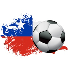 Chile Soccer Grunge vector image vector image