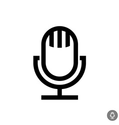 Microphone icon Isolated on a white background vector image