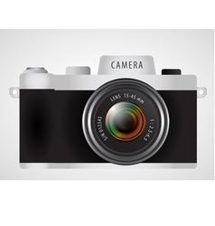 mirrorless interchangeable lens digital photo vector image vector image
