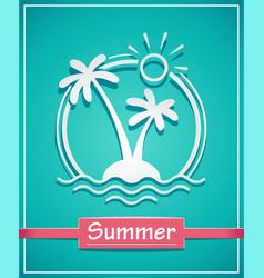 palm at tropical island vector image