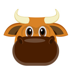avatar of a bull vector image vector image