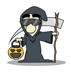 Death reaper halloween costume vector image