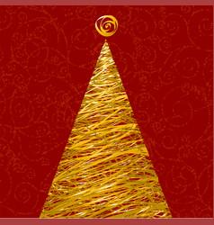 glitter christmas tree vector image vector image