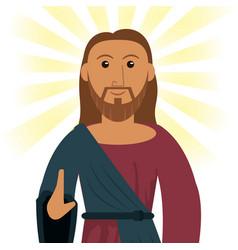 jesus christ devotion spiritual image vector image