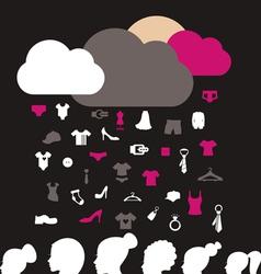 Rain clothes vector image vector image