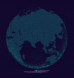 3d dotted globe abstract background vector image