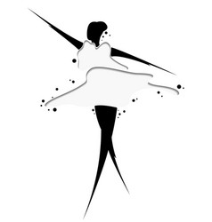 Abstract drawing of a girl in dress artwork for vector
