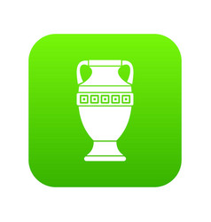 ancient jug icon digital green vector image