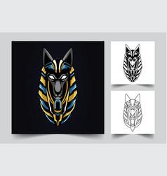 Anubis egypt artwork vector