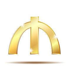 azerbaijani manat currency symbol vector image