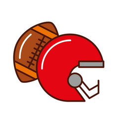 brightly football helmet and ball vector image