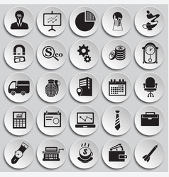 business icons set on background vector image