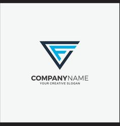 Business logo technology initial cf vector
