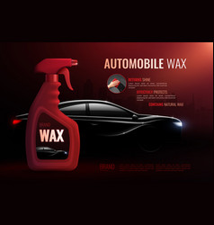 Car care product advertising composition vector