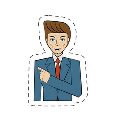 cartoon man avatar image vector image