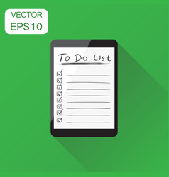 Checklist with tablet computer icon business vector