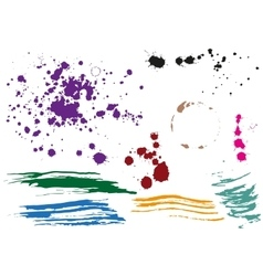 Coffee stain Colored blobs Multi colored blots vector