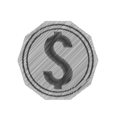 coin money symbol isolated icon vector image