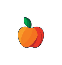 color red apple icon vector image