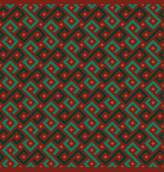 colorful african geometric ornament vector image vector image