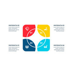 Cycle element for infographic template for vector