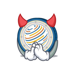 devil factom coin mascot cartoon vector image