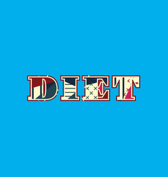 diet concept word art vector image