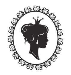 elegant princess in frame vector image