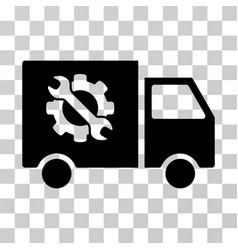equipment truck icon vector image
