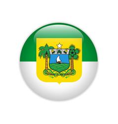 Flag bandeira do rio grande do norte on button vector