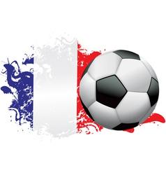 France Soccer Grunge vector image