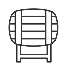 fresh beer container isolated icon vector image