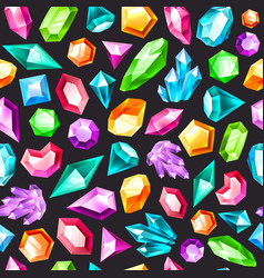 gem seamless pattern gemstones amethyst topaz vector image
