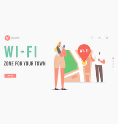 Geolocation positioning navigation landing page vector