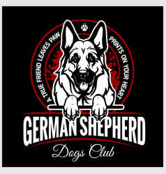 German shepherd - for t-shirt vector