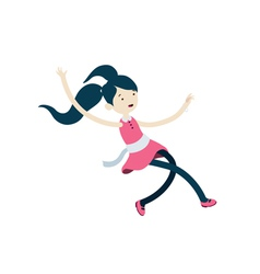 Girl jumping or falling vector image