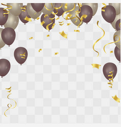 Gold balloon on background frosted party balloons vector
