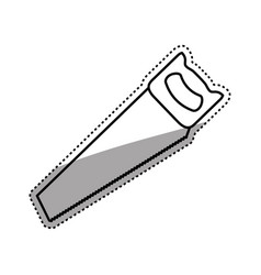 Hacksaw construction tool vector