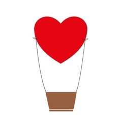 Heart love romantic icon graphic vector