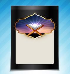 islamic festival background vector image