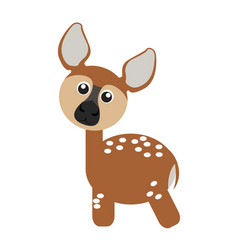 isolated cute deer vector image