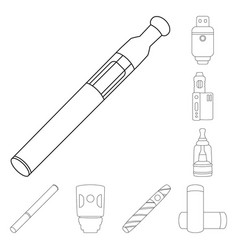 Isolated object nicotine and filter symbol vector