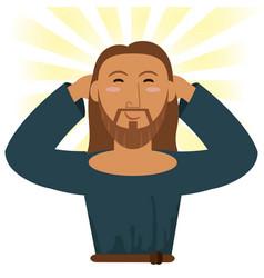 jesus christ happy religious image vector image