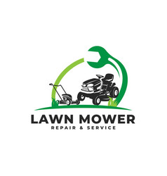 Lawn mower repair service maintenance vector