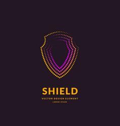 linear shield a symbol security vector image