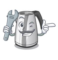 Mechanic mascot cartoon household kitchen electric vector
