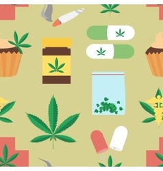 Medical marijuana pattern vector