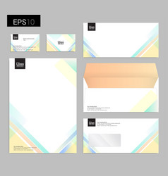 Modern stationery set in format letterhead vector